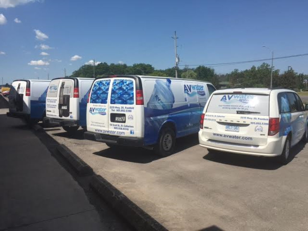 av water systems service vans back